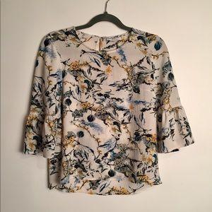 Liz Claiborne floral blouse EUC L